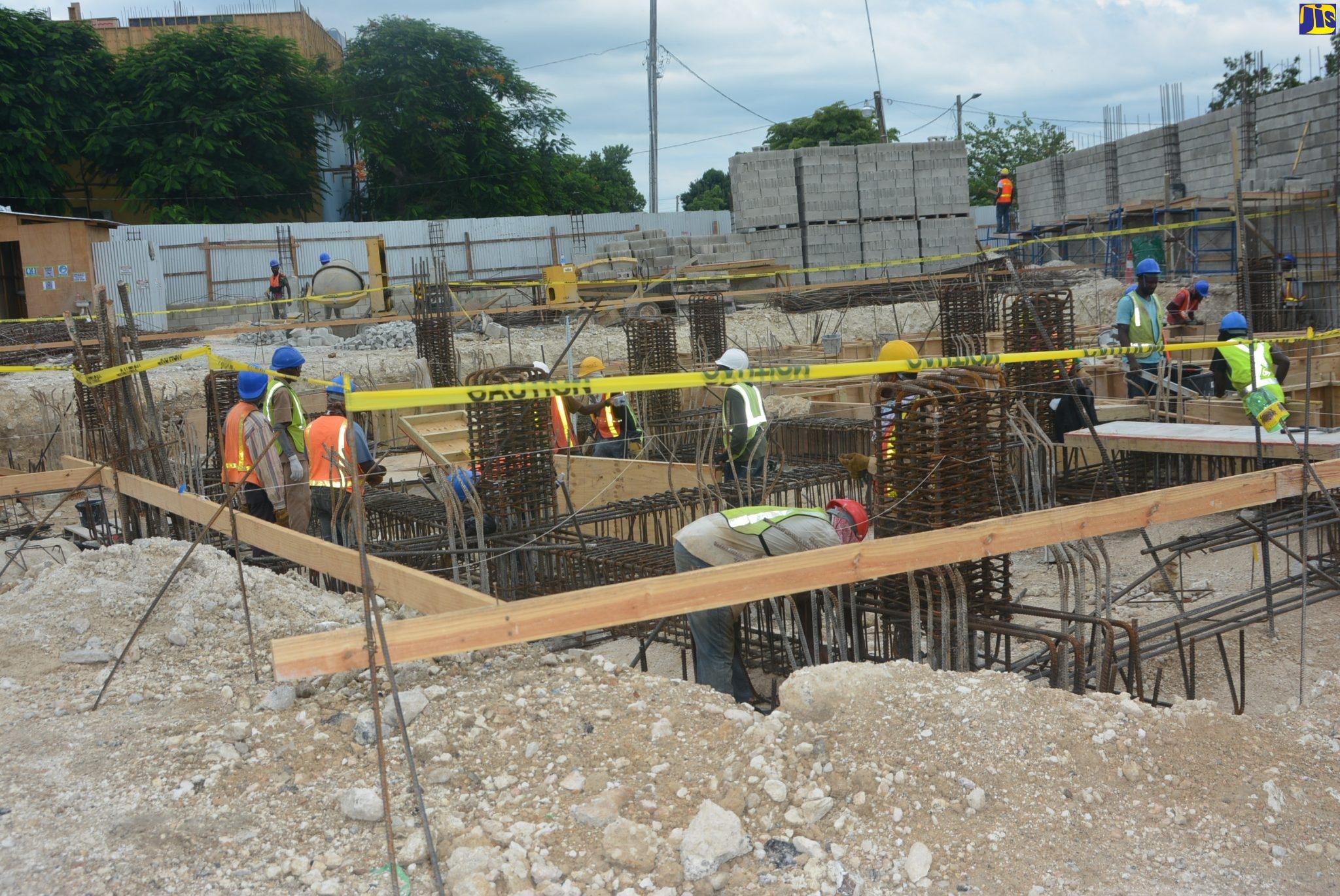 Construction of Barnett Street Fire Station on track