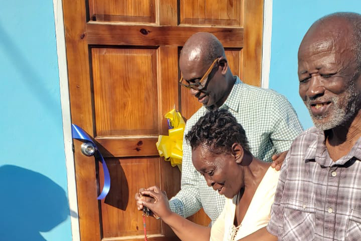 Indigent Houses handed over in Trelawny