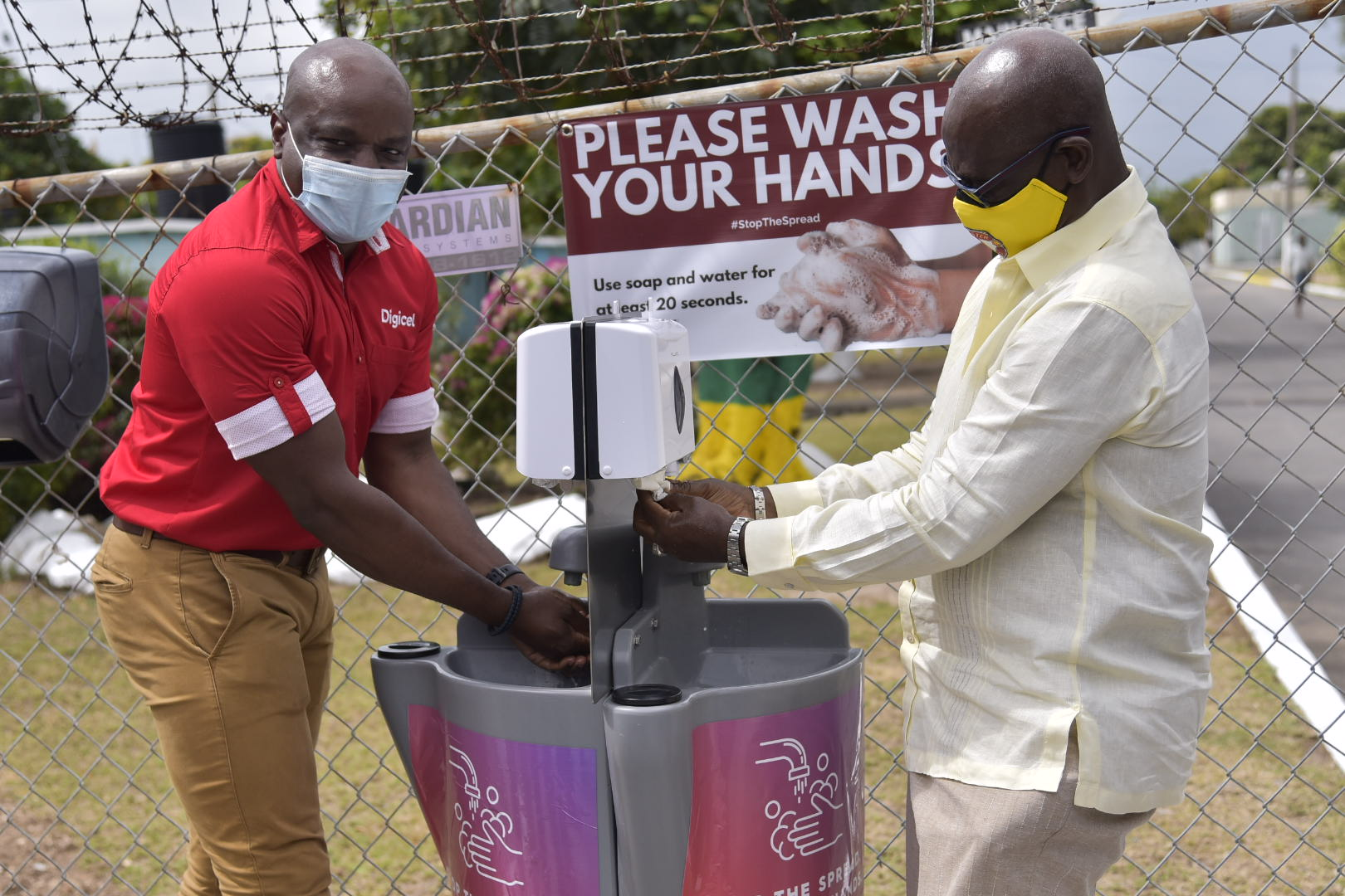 Public Hand-Washing Stations to Be Installed Across Jamaica As Government And Digicel Partner To Fight Covid-19