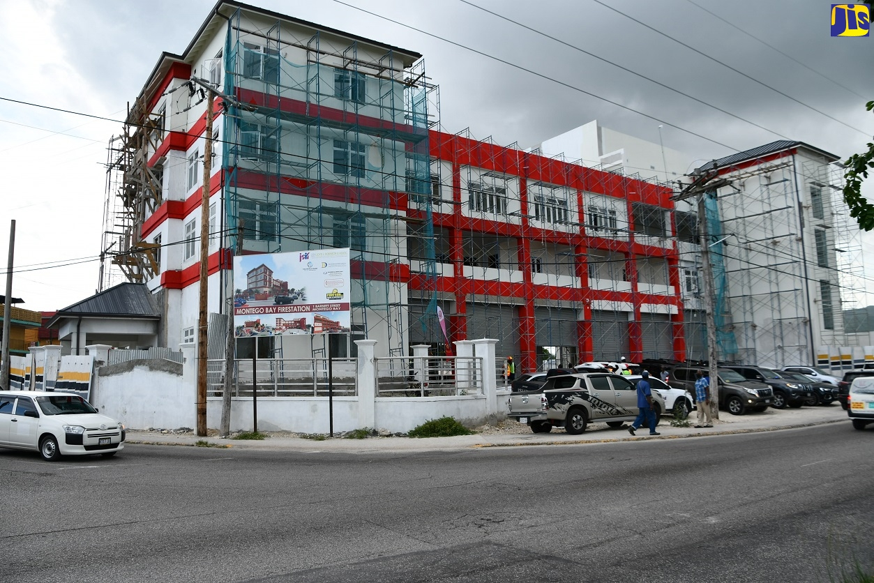 New Montego Bay Fire Station slated for completion within two months